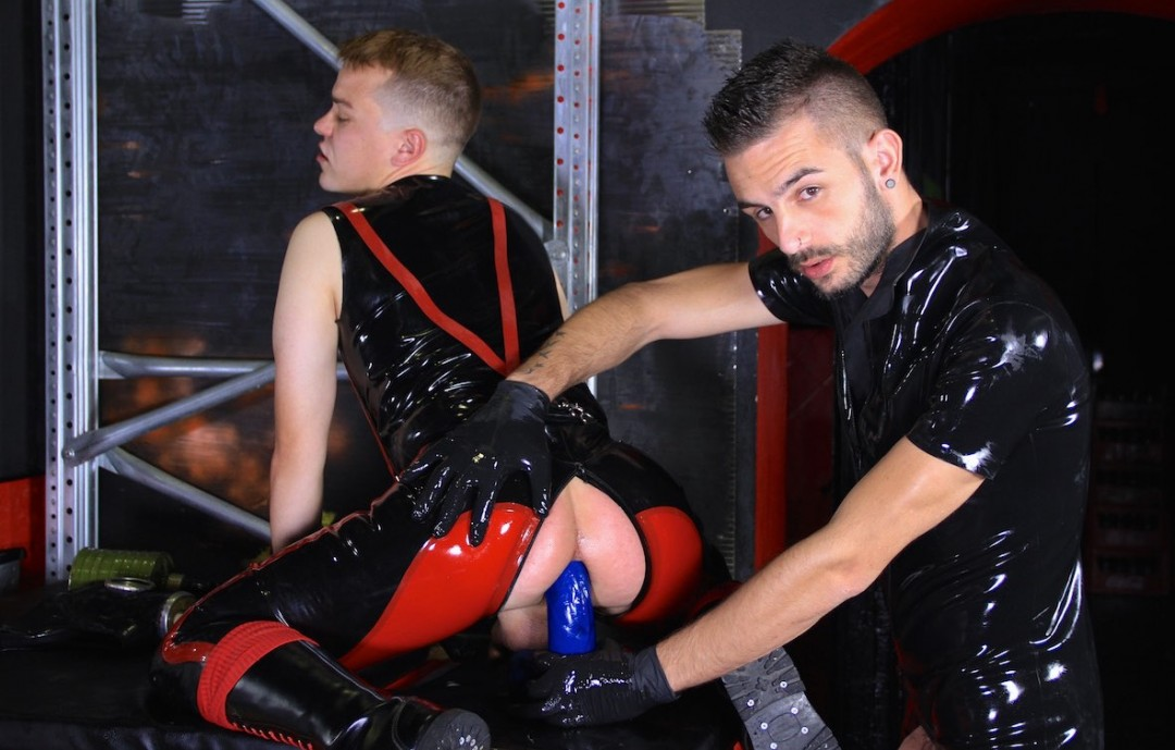 Doggy Play and Ass Stretching in Latex