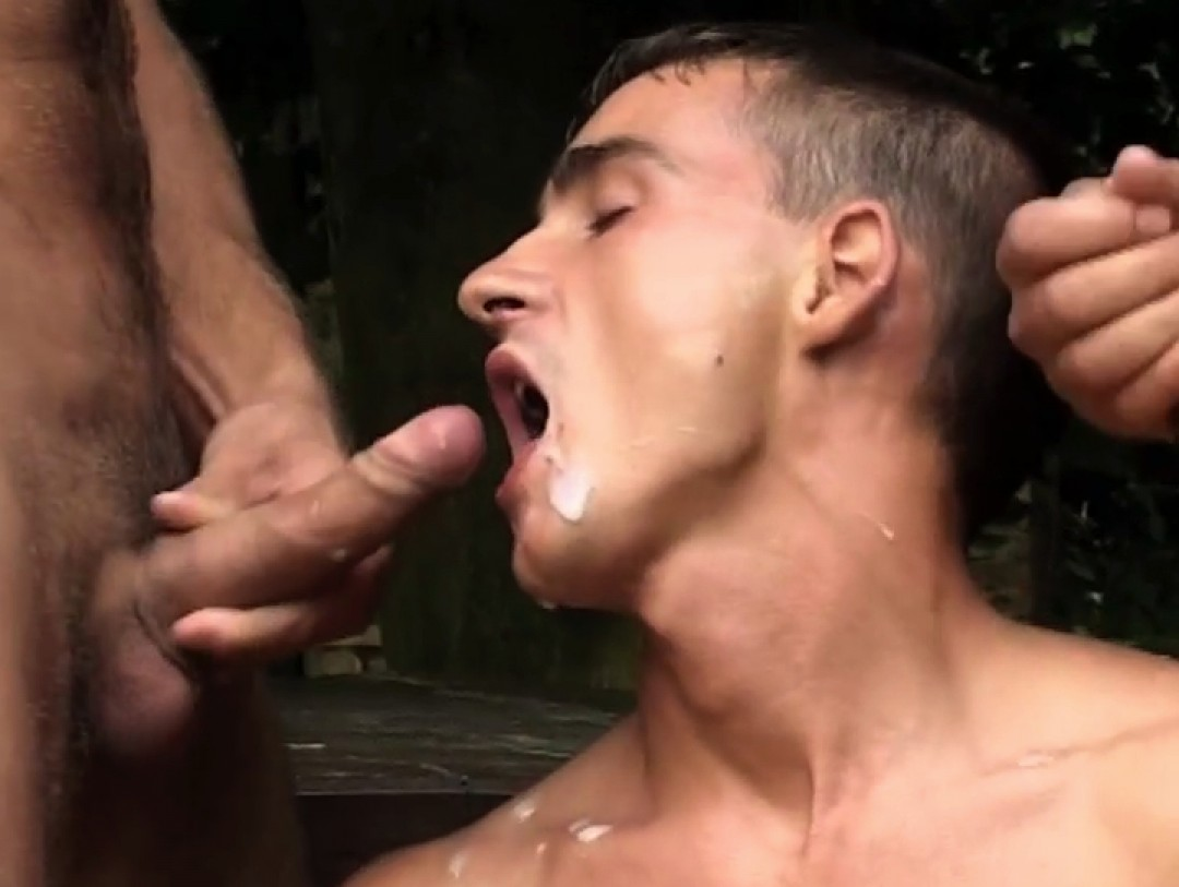 Holiday spit-roast for smooth twink