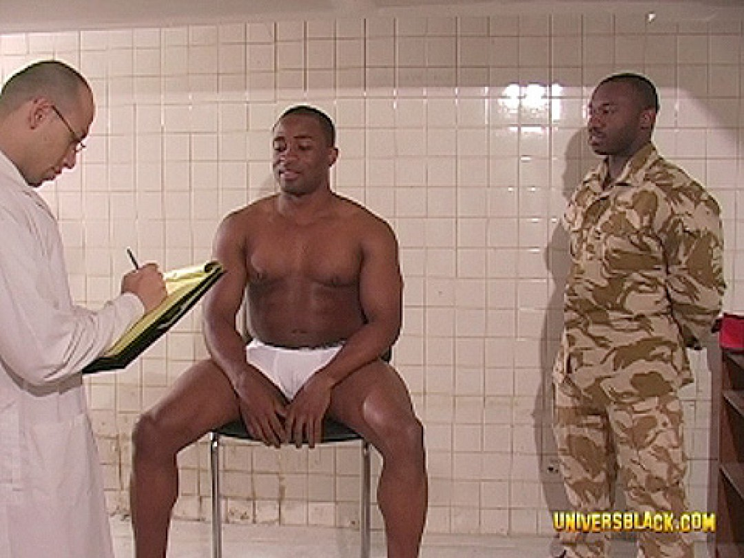 BLACK ARMY DUDE ASS INSPECTION