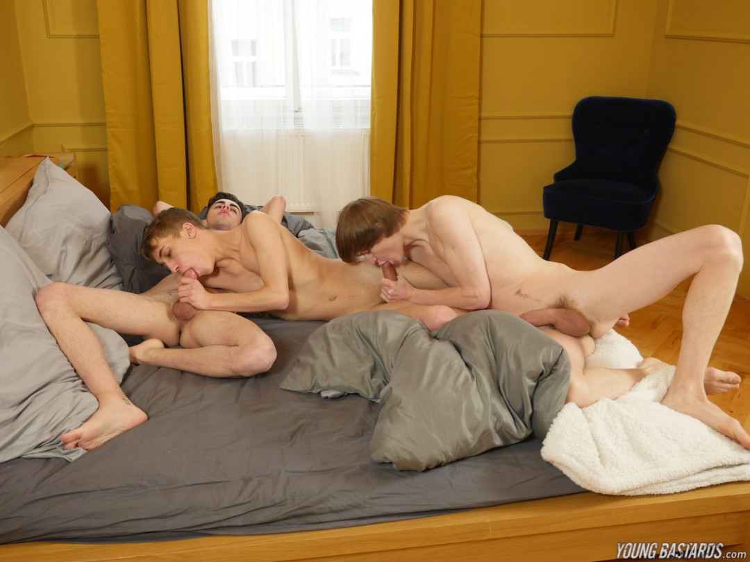 Two Big Dom Teen Cocks Split Twink Ass