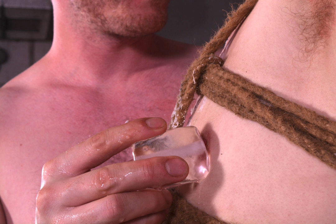 Burning gay young slut in chastity