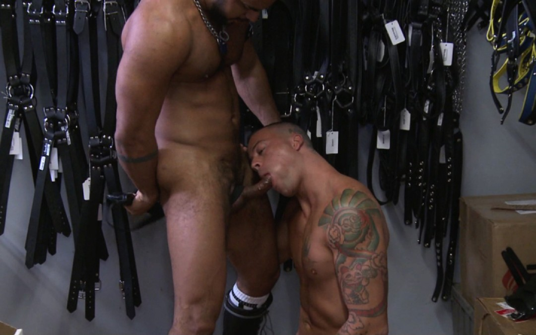 Leather and cum