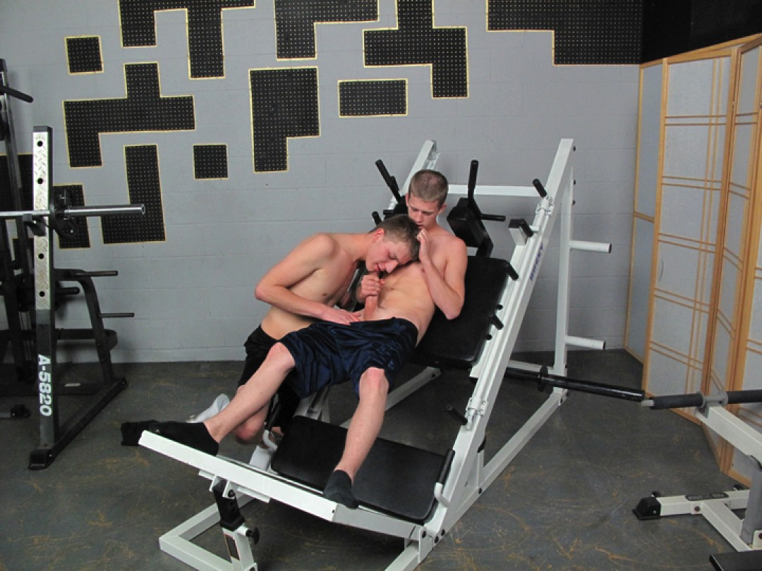 Hard Workout At The Gym