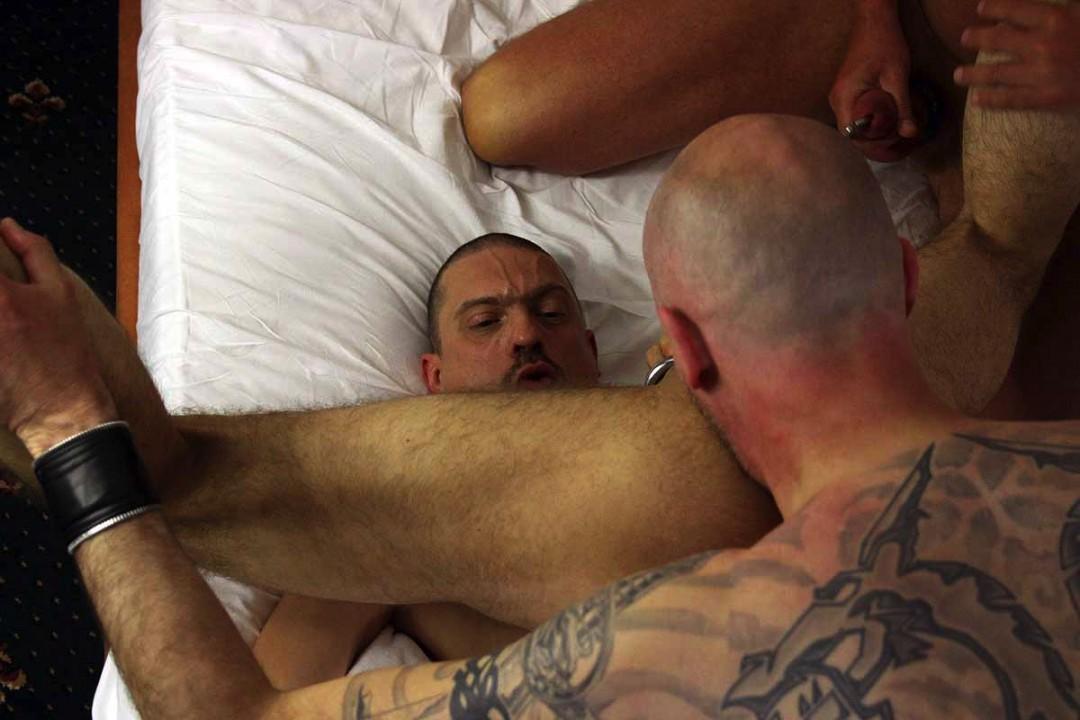 Gay orgy in hotel room