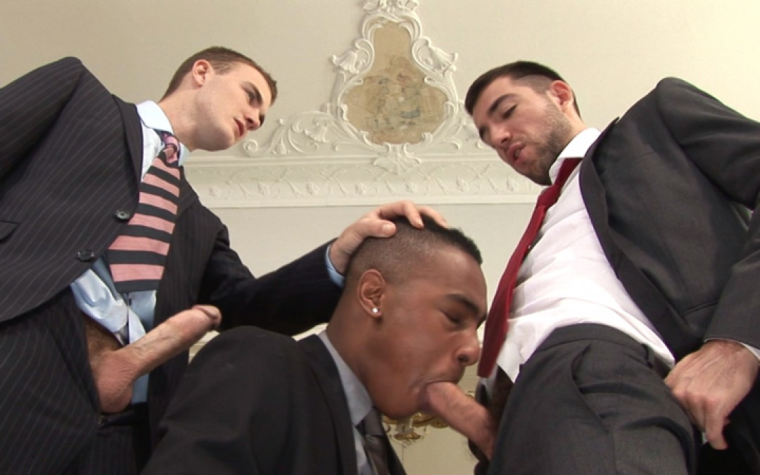 Costards, lopage et double péné gay