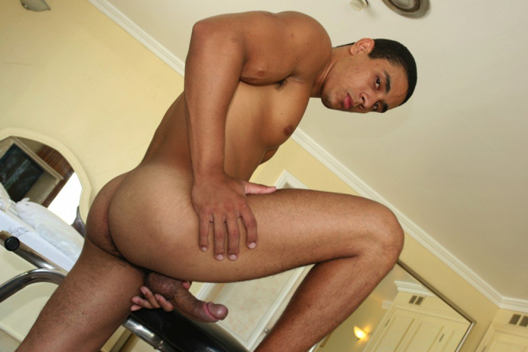 Beautiful Latino boy's first time