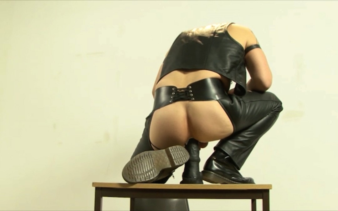 A leather stud's hungry ass