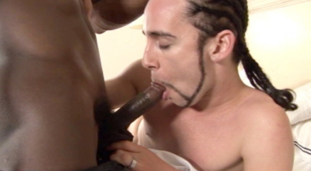 Lucky White Rasta gets hammered by Black Stud