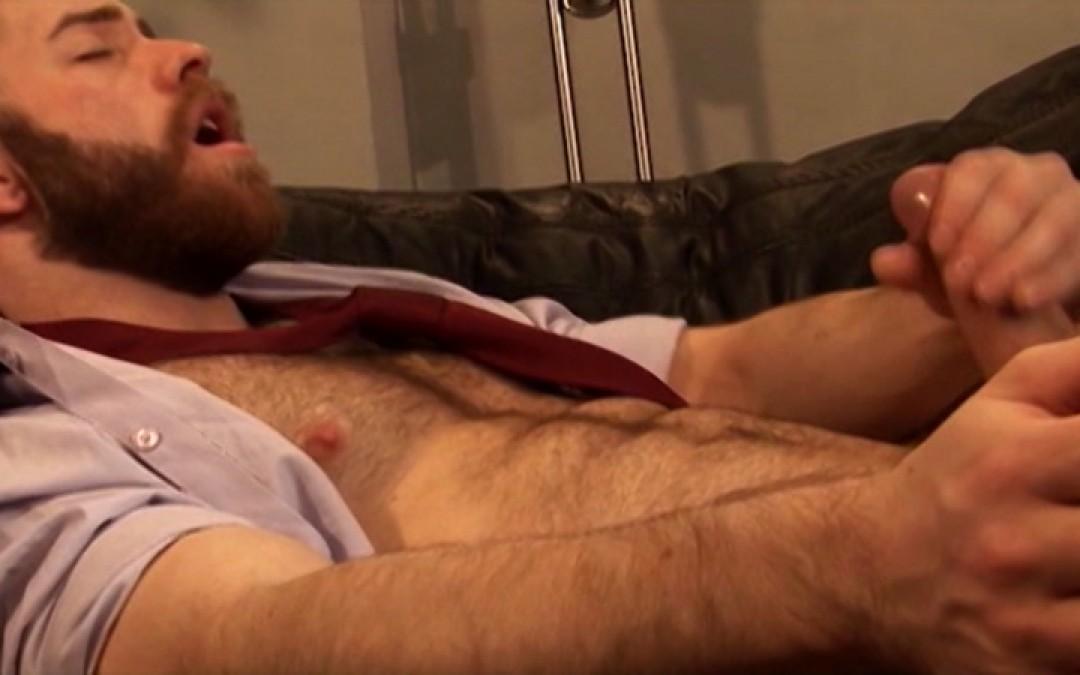 My boss is wanking his dick