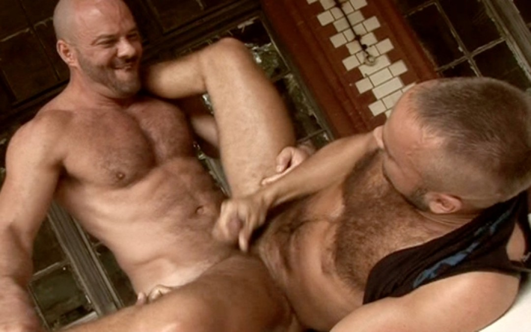 Horny muscled hairy guys