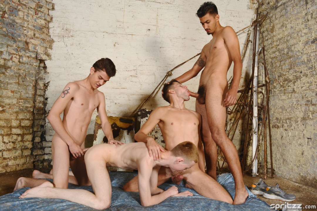 Brit-boy's XL Cock Four-Way