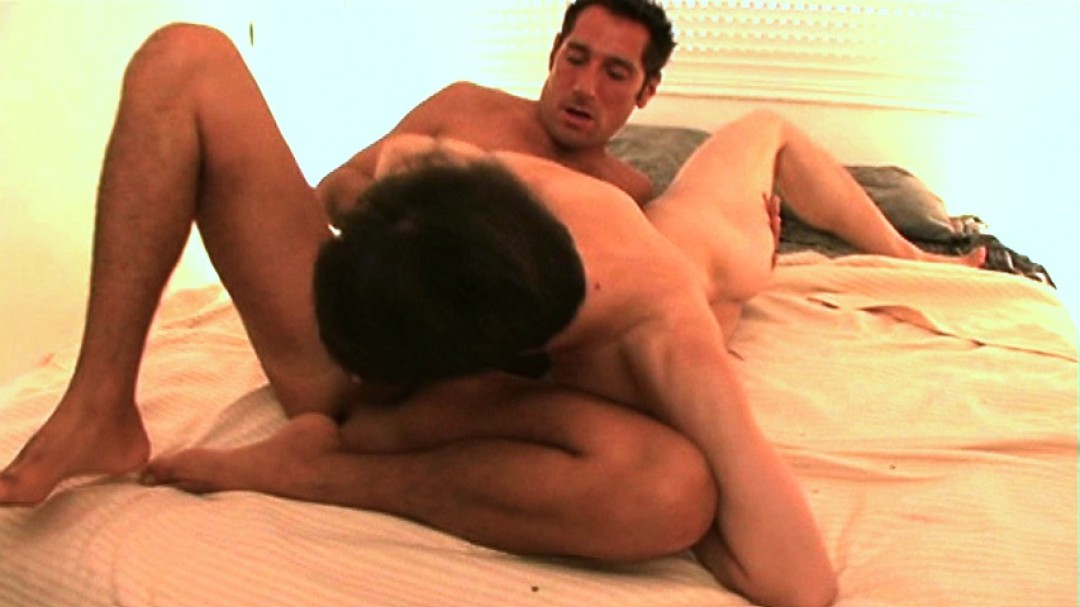Tongue and cock up the boy's ass