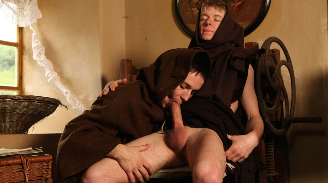 The young monk is a gay breeder