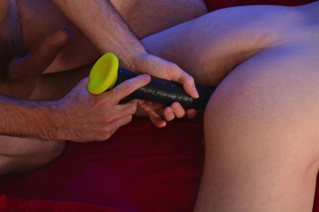 Bareback Anal Session: XL Dildos vs. XL Cocks