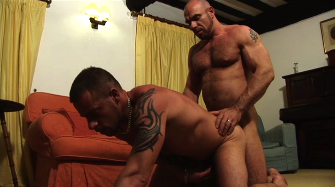 Jake Ryder and Axel Ryder, two alpha males want need bareback gay sex
