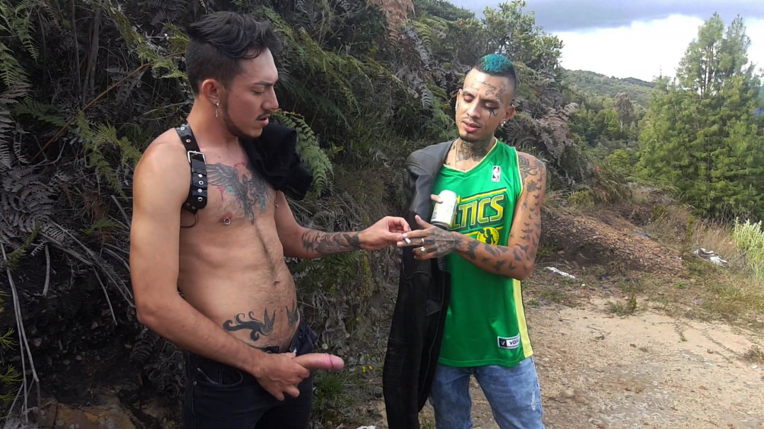Sexy boys horny in Jungle