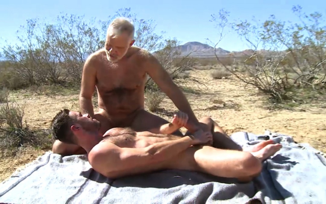 Papy wants cowboy's dick