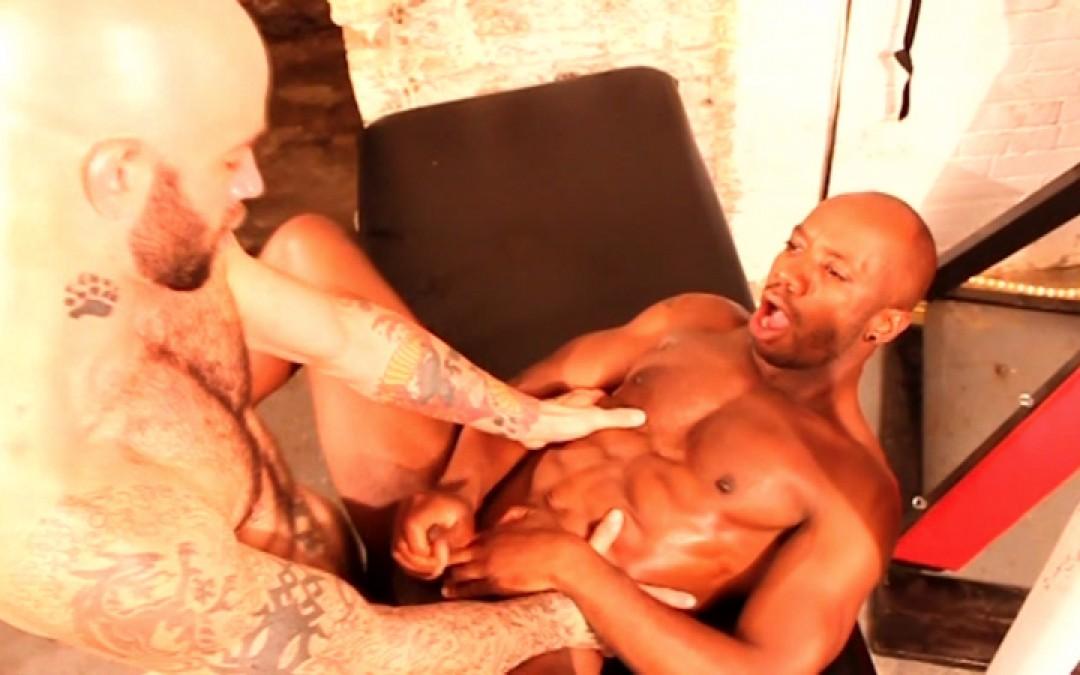 Black muscle stud bondage fantasy
