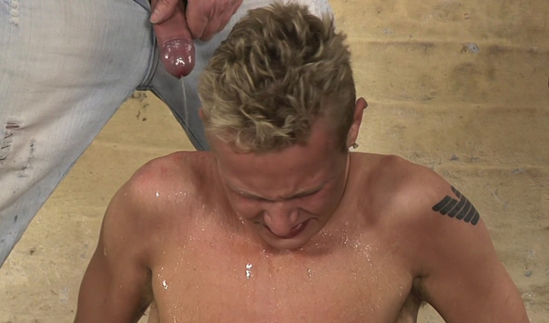 Golden Showered And Made To Cum