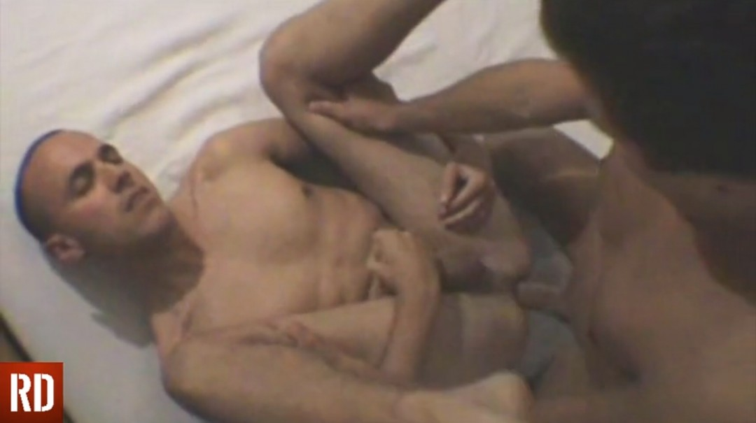 Athlete watches as he fucks his sleeping lover