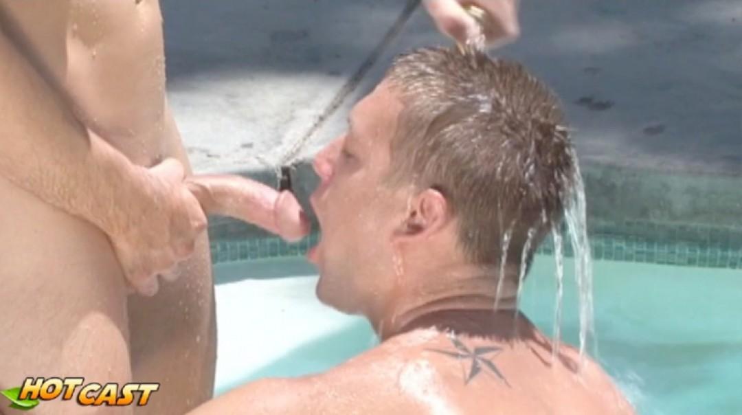 Hard Beautiful boys by the pool