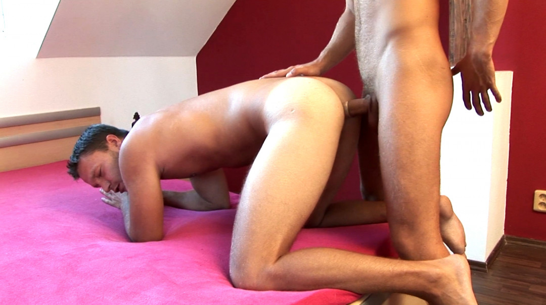 Blond gay stallion shooting his loads on my ass