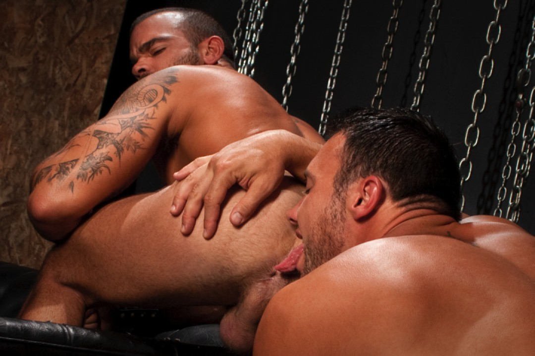 Swallowing and gagging on Jason's huge tool