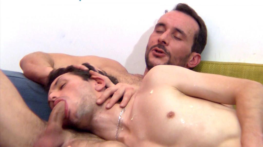 Gay Dom French Daddy training a new slave