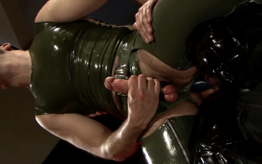Starving for cock in rubber