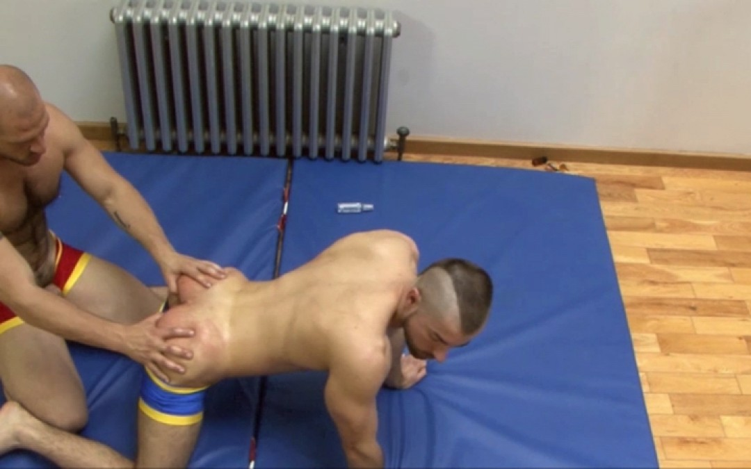 Gay wrestling and ass-kicking