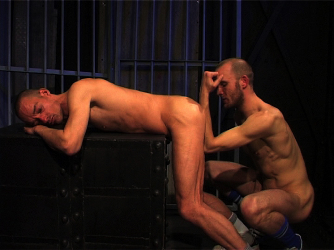 Eating straight guy's cum in jail