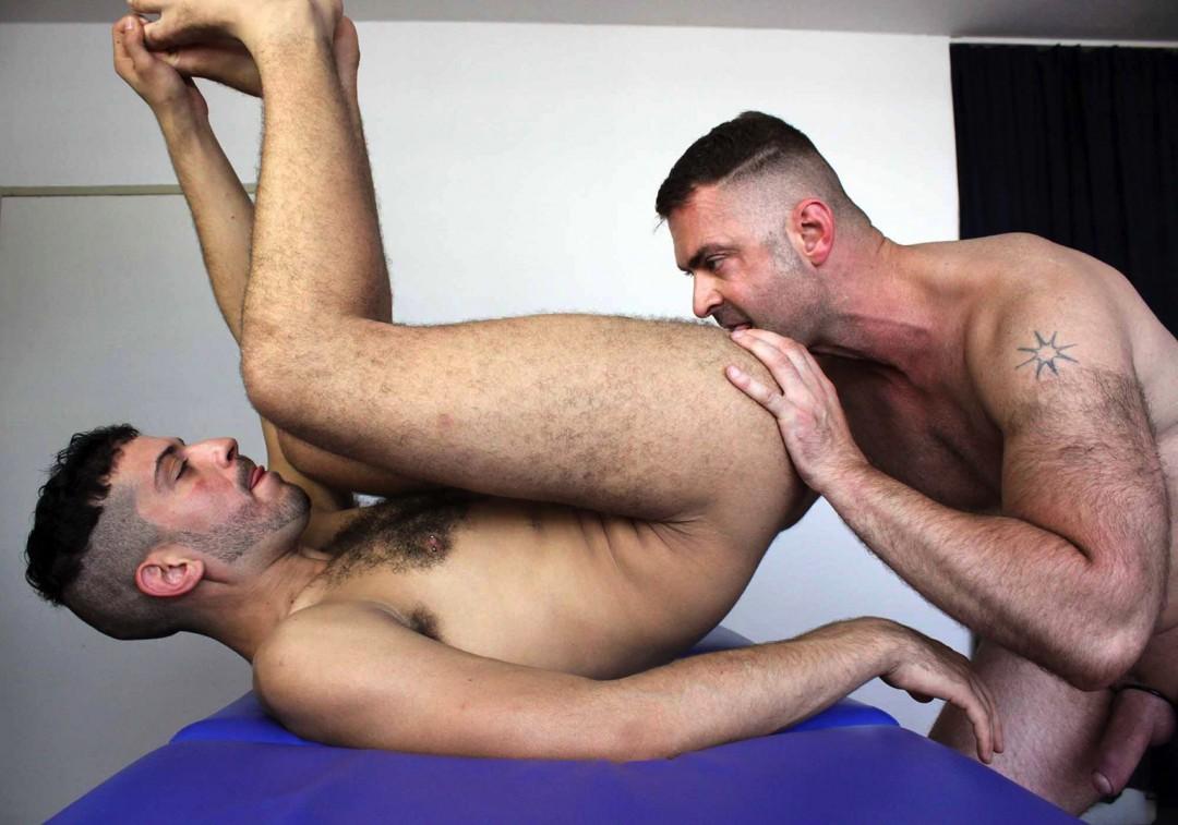 Handsome gay arab takes a big cock