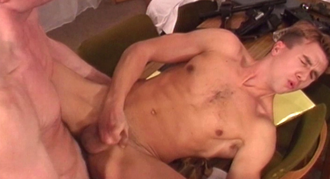 Dominating the gay blonde military boy