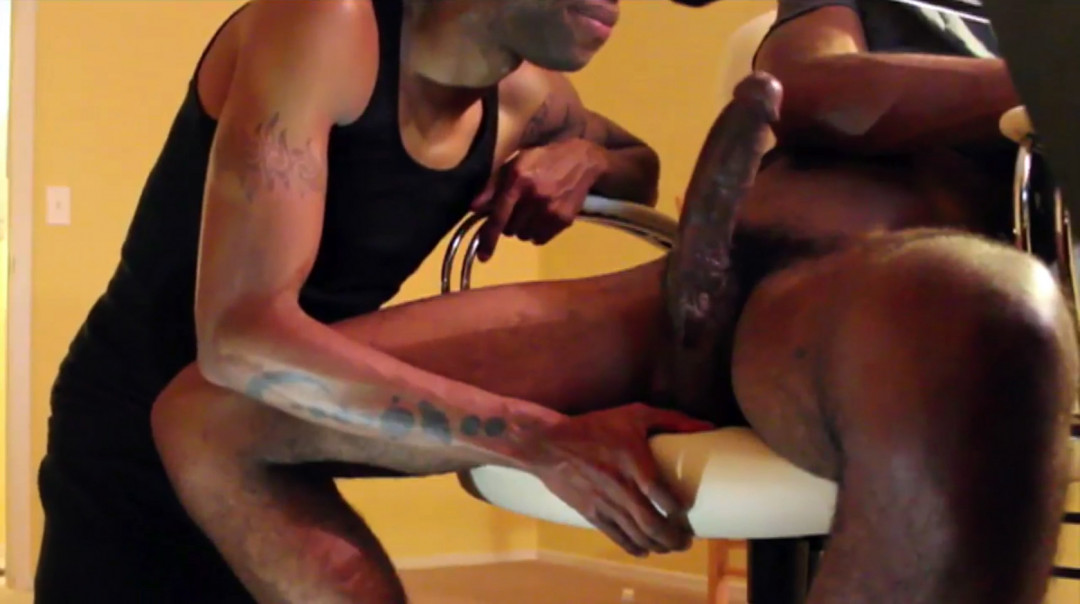 Amazing big black dick to feed my gay mouth