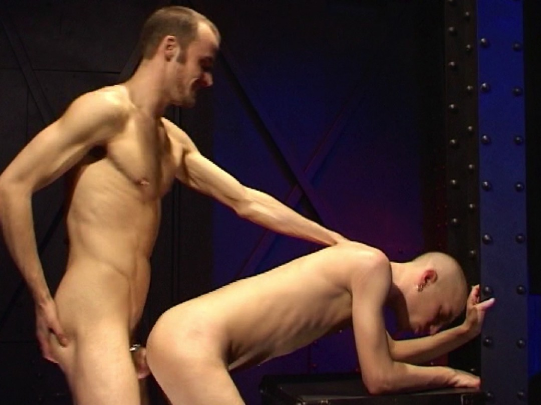 Skinhead whore at the sauna