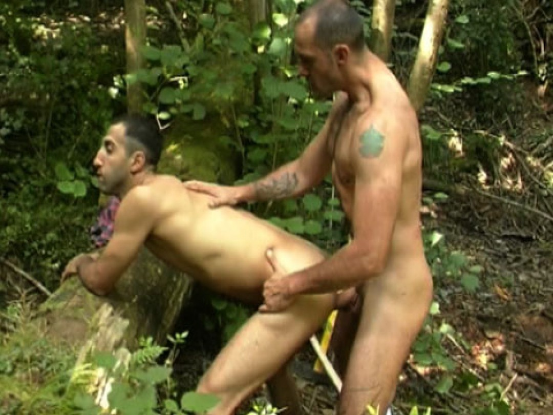 Handsome arab man fucked hard in the woods