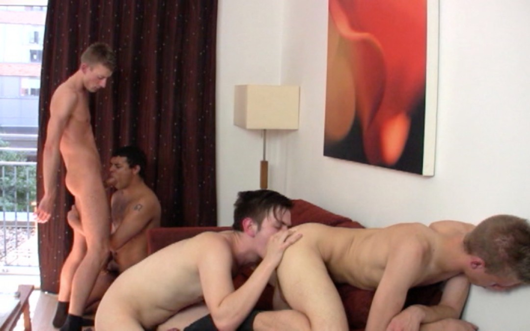 4 young blond german guys