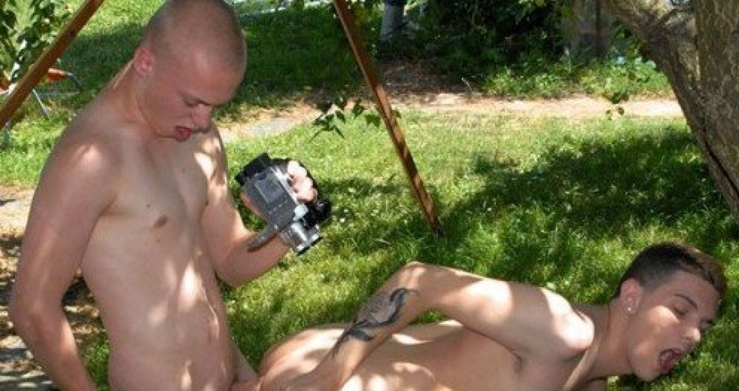 Inked Exhibitionist Filming His Conquest