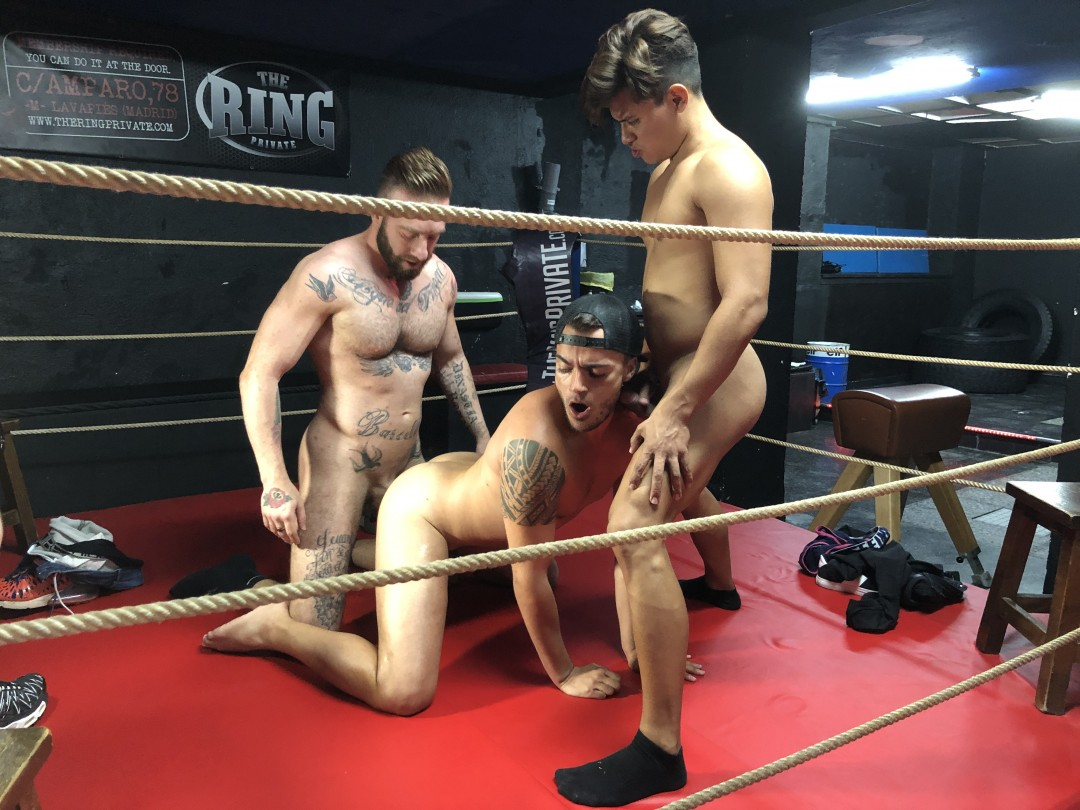 Kevin LAURENT fucked by JOSH MEZZA and a striaght laitno twink