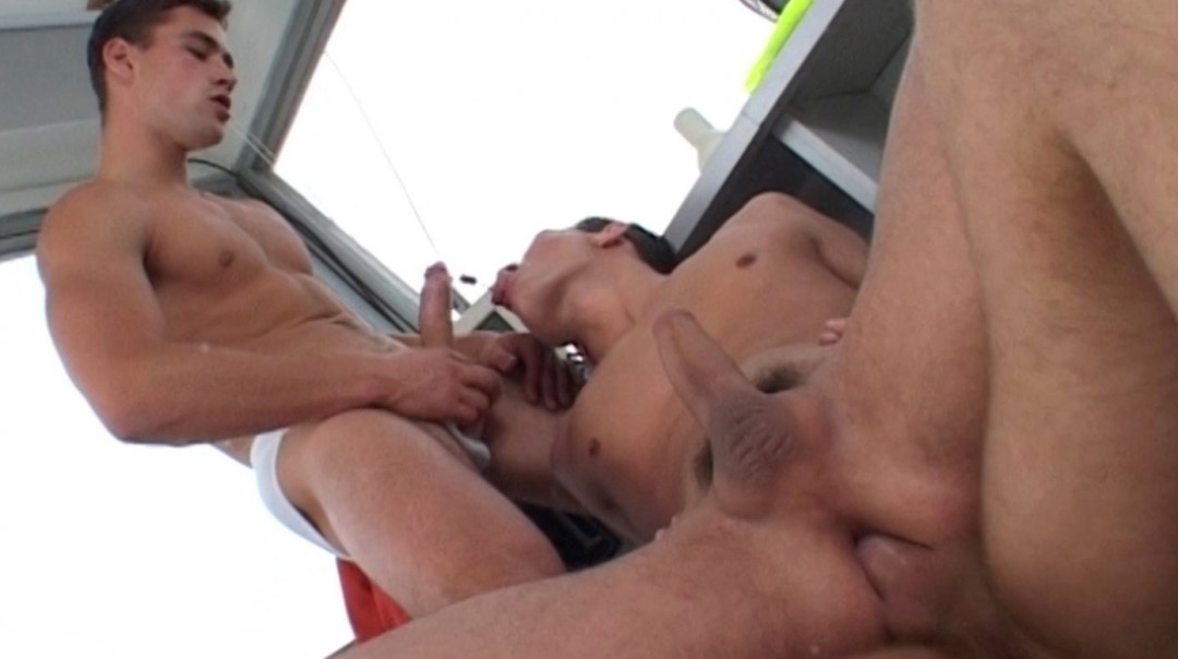 Gay Anal Sex in the Control Tower