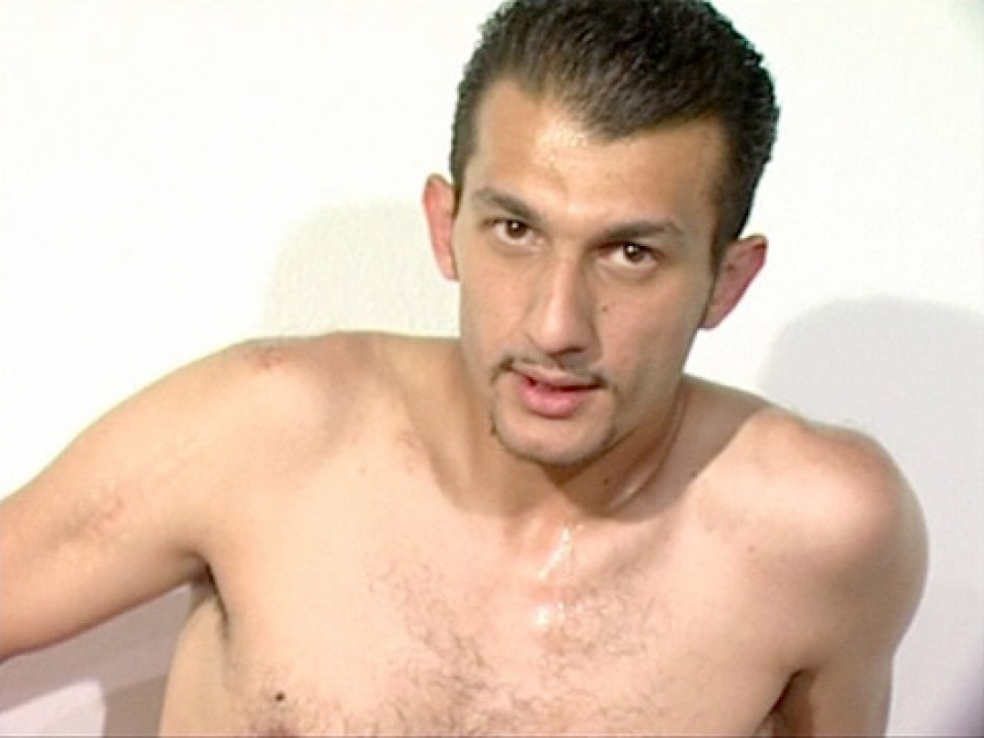 Sexy Turkish macho wanks his big dick and shows his big balls
