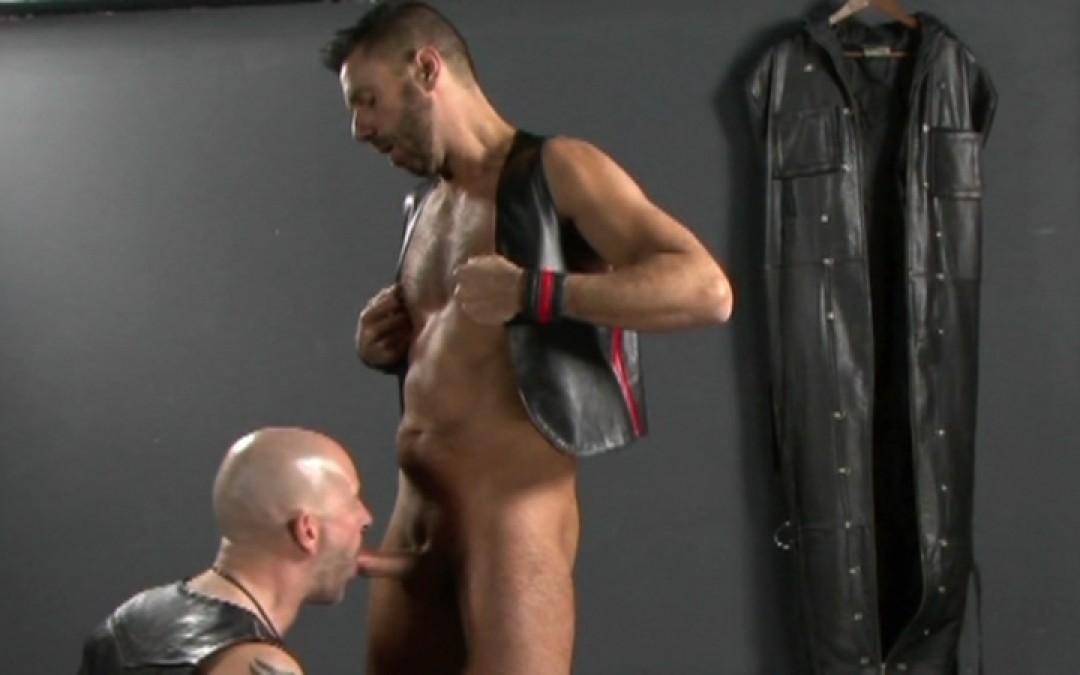 Leather men fuck hard