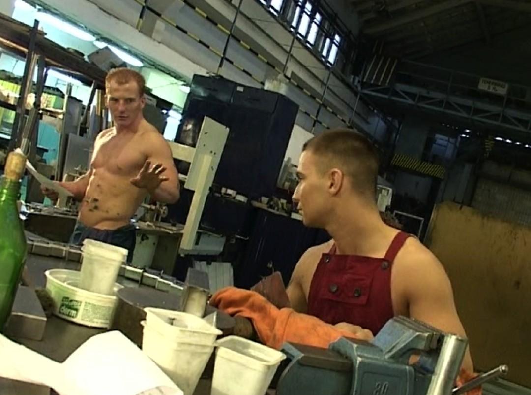 Cute co-worker fucked in factory