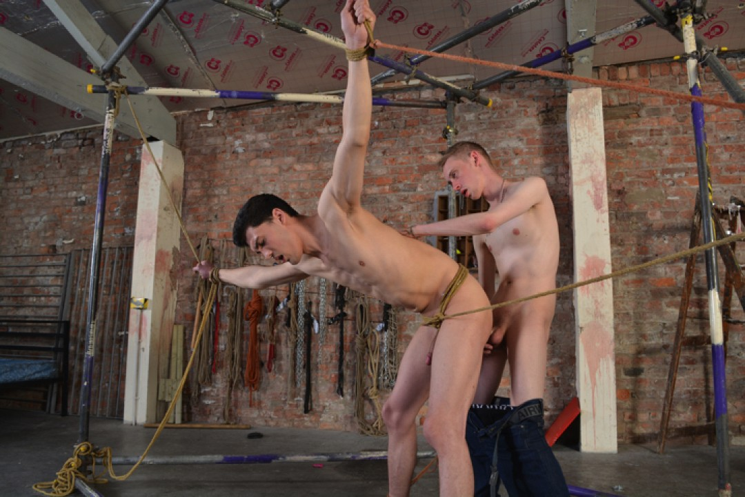 Roped And Butt Fucked Hard!
