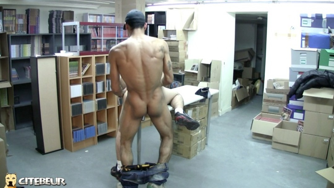 Young gay boy used and used on the desk