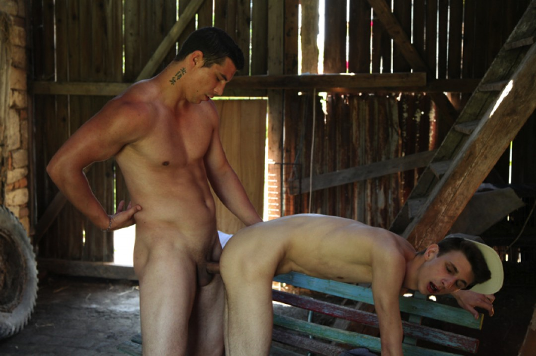 Thick cock for a smooth boy-pussy