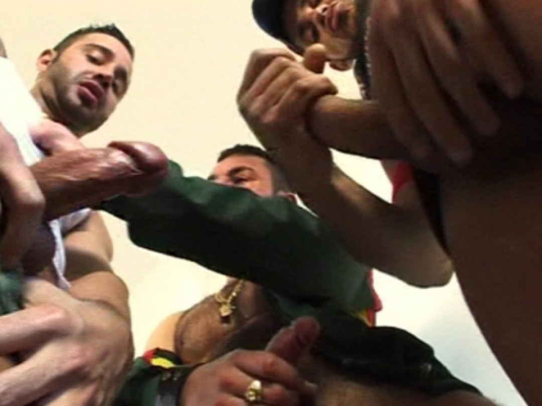 DIRTY THREESOM WITH LOTS OF PISS ACTION IN SPORTIV GEAR! 1