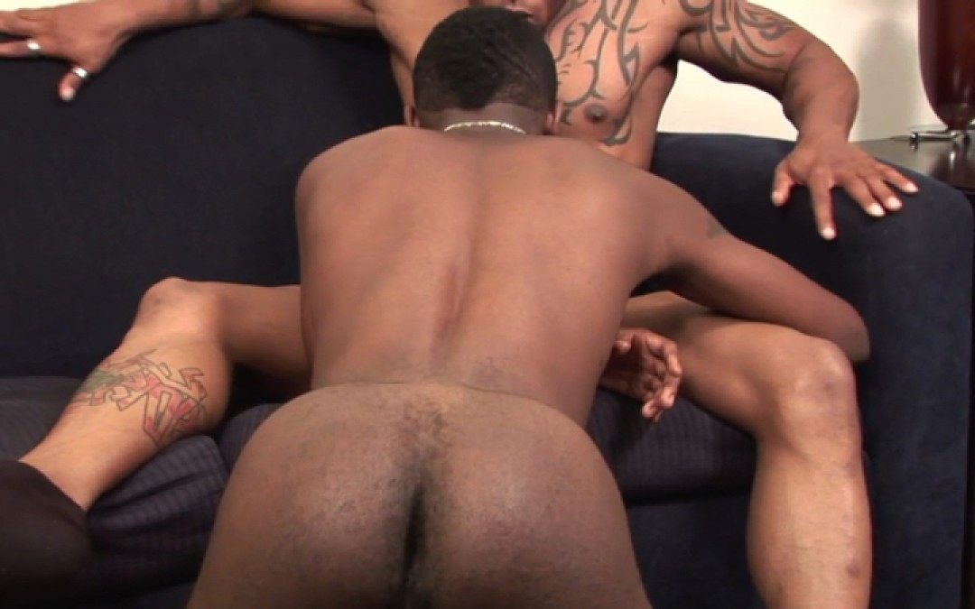 Muscled black men in raw sex