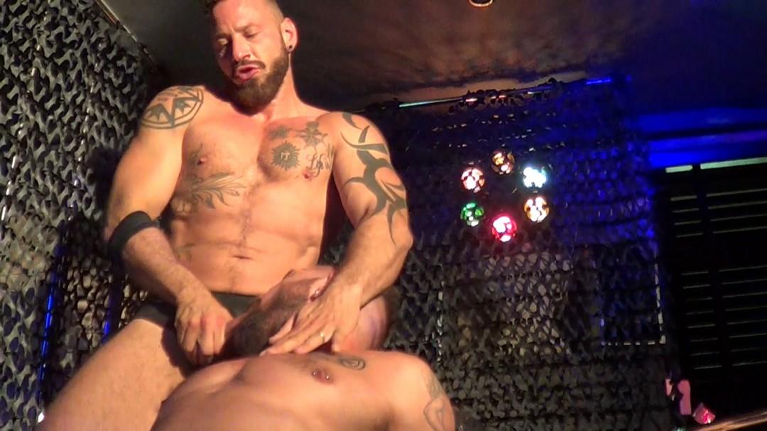 Live porn show in sauna