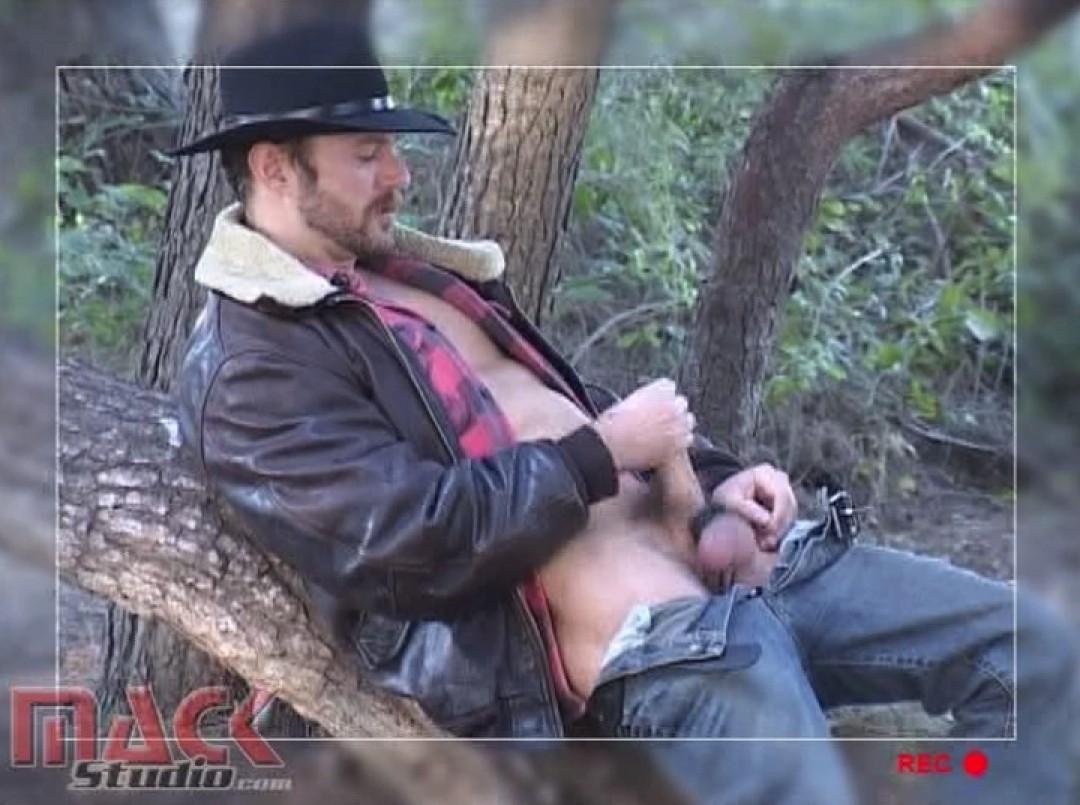 Cowboy pleasuring himself